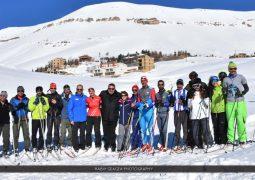 زيارة الامينة العامة للاتحاد الدولي للتزلج ساره لويس لبشري والارز